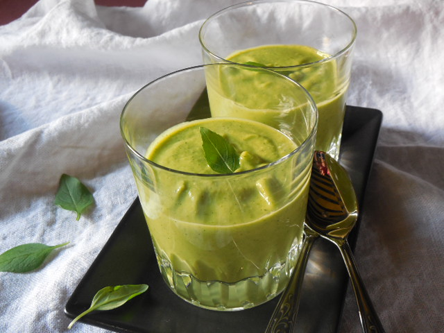 Soupe froide auxcourgettes
