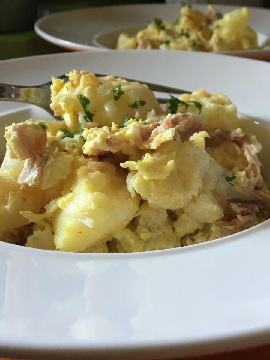 Gratin de chou-fleur et pommes de terre à la crème - Quoi ...