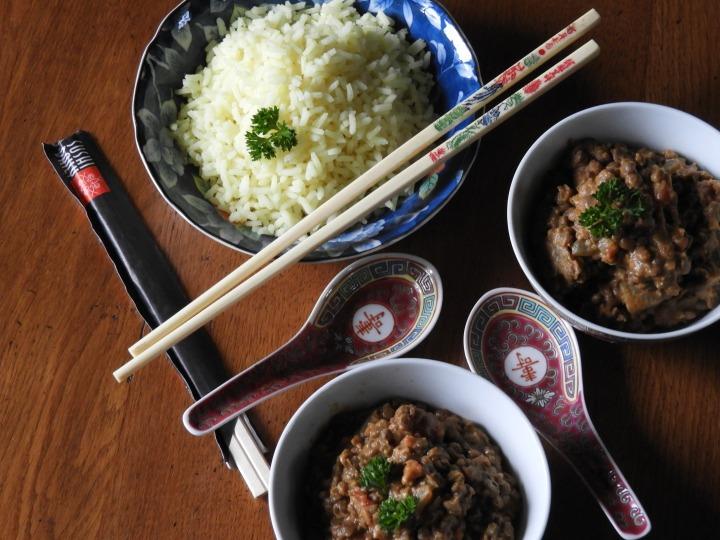 Curry de lentilles au lait decoco