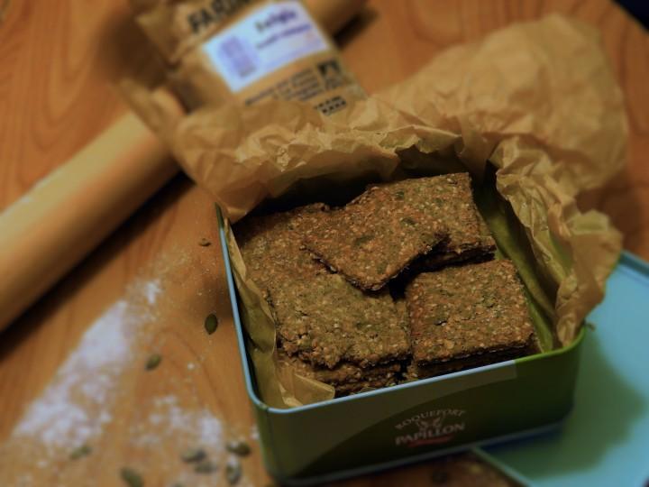 Crackers danois aux graines(Knækbrød)