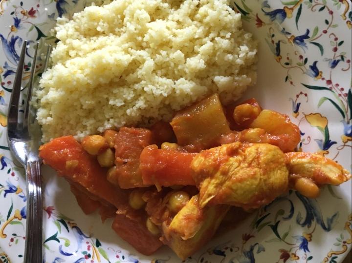 Couscous poulet &légumes