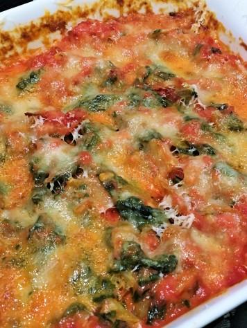 Gratin de blettes à la tomate