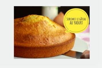"""Défi 'Appropriez vous la recette"""" / Sublimez le gâteau au yaourt"""