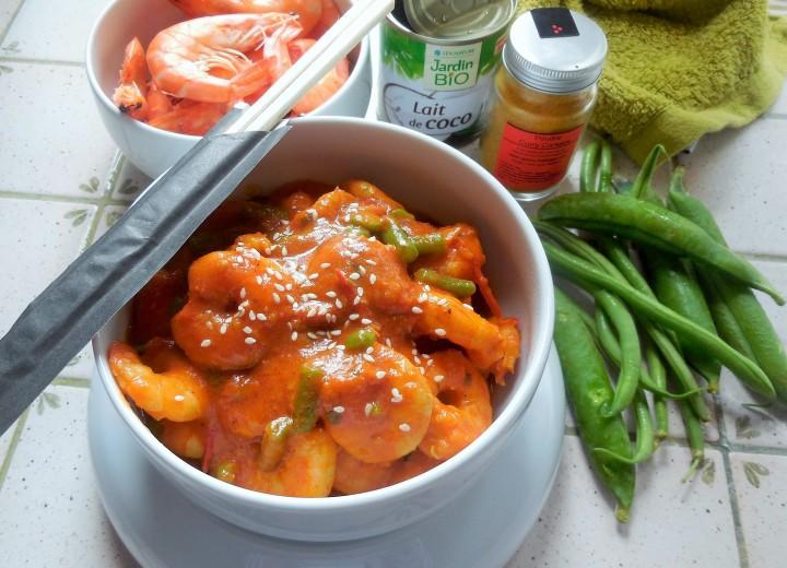 Curry de crevettes lait decoco