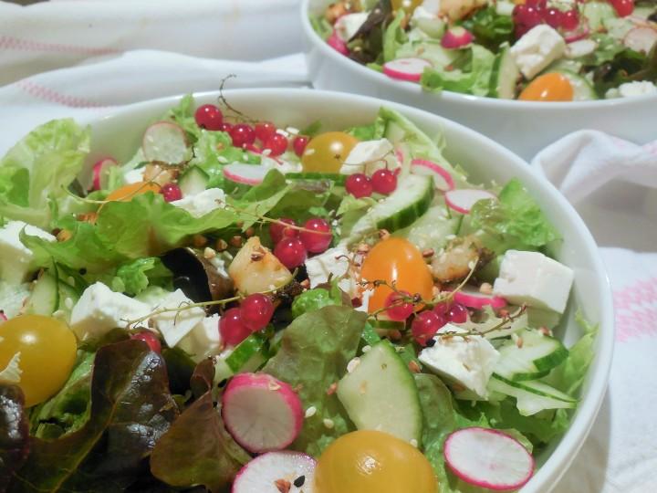 Salade printanière de légumes à lafeta