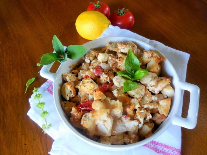 Blanc de poulet, tomate etmozzarella
