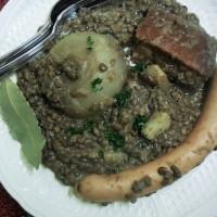 Linsesupp, soupe aux lentilles à l'alsacienne