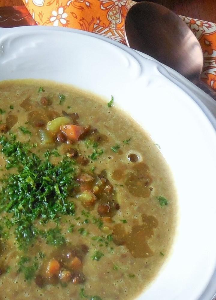 Soupe de lentilles auRaz-el-Hanout