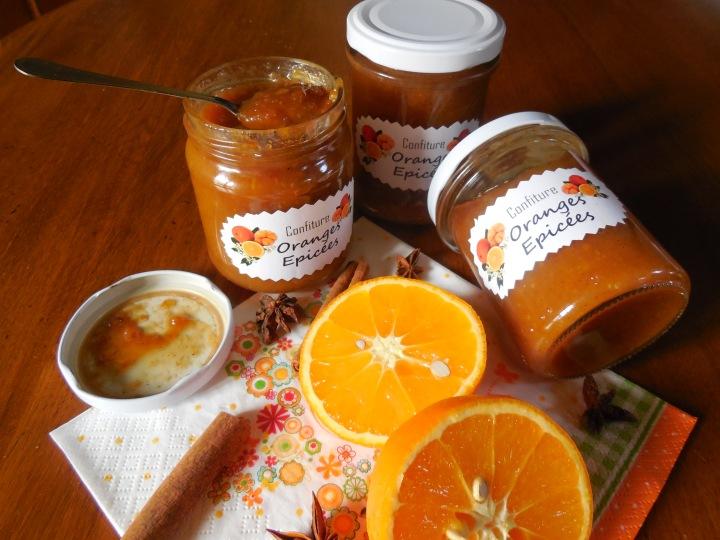 Confiture d'oranges épicées