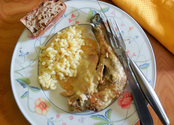 Poulet à la crème et foie gras façon GeorgesBlanc