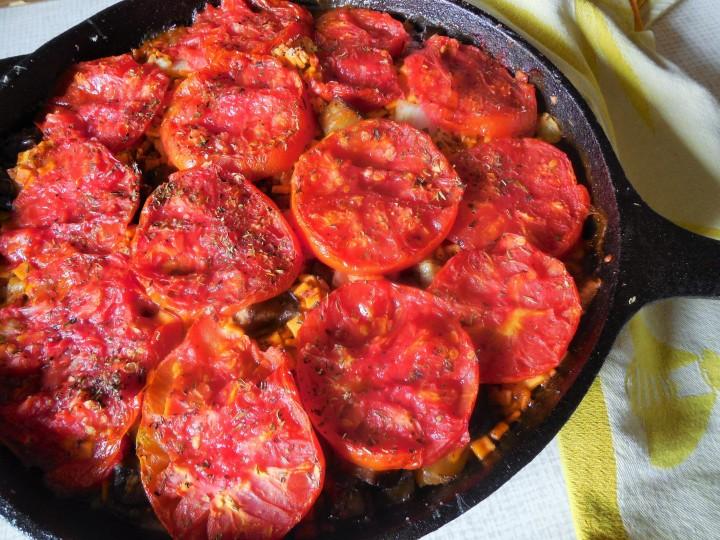 Crozets à l'aubergine aufour