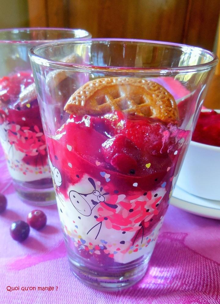 Compotée de prunes rouges et cranberries