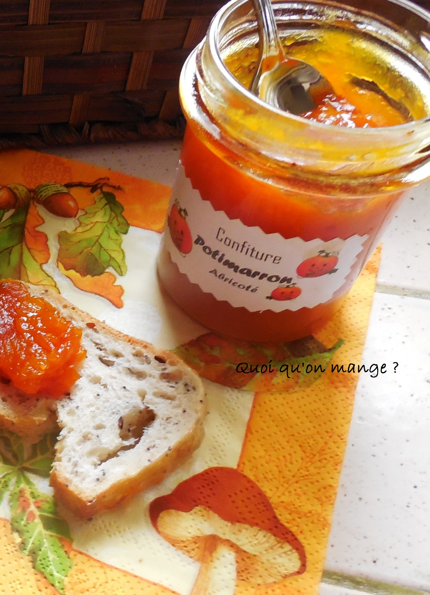 Confiture de potimarron aux abricots secs et jus d'agrumes