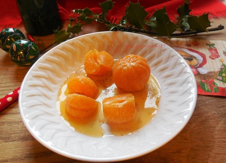 Clémentines aux épices de Noël