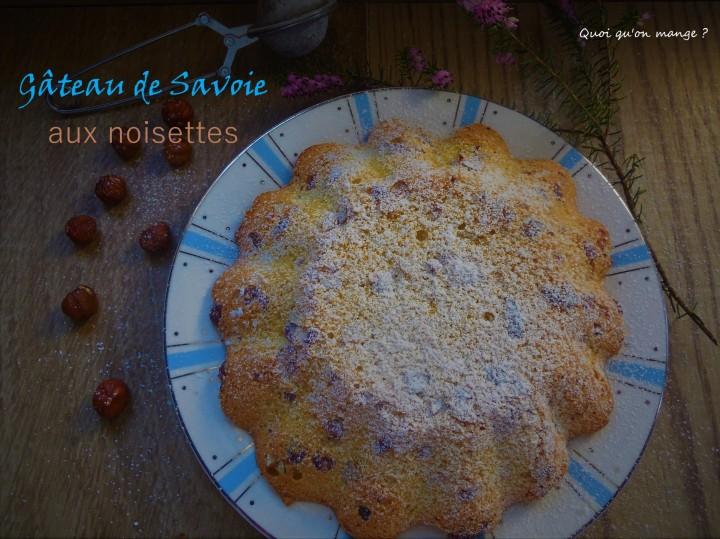 Gâteau de Savoie auxnoisettes
