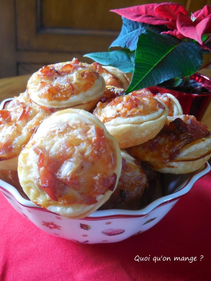 Mini-tartelettes au bacon et St Nectaire