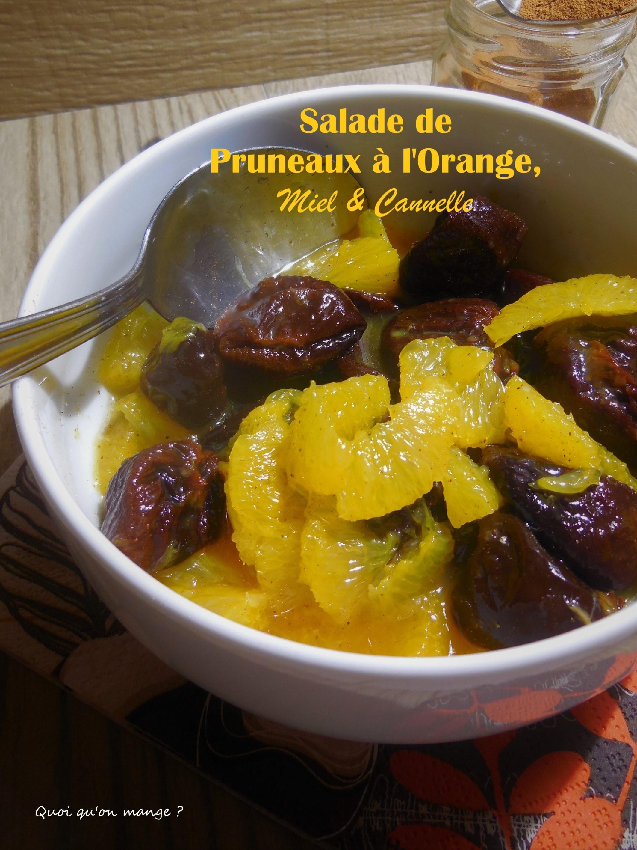 Salade de pruneaux à l'orange, miel & cannelle