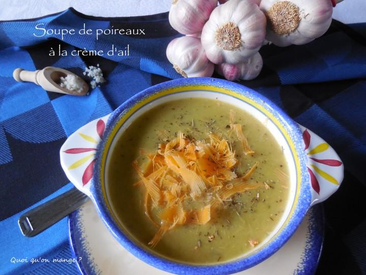 Soupe de poireaux à la crèmeaillée