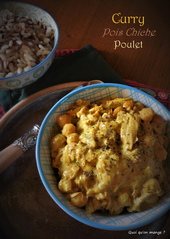 Curry de pois chiche et poulet