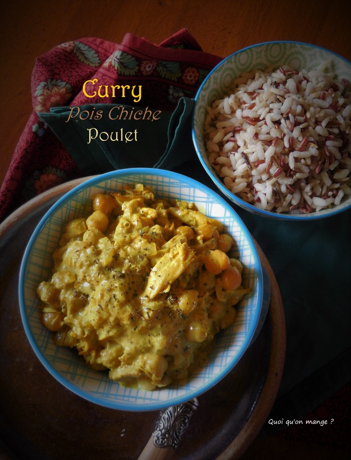 Curry de pois chiche au poulet