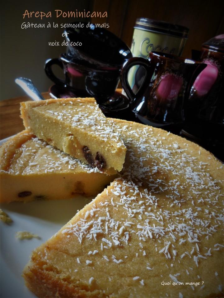 Arepa Dominicana, gâteau à la farine de maïs et noix de coco