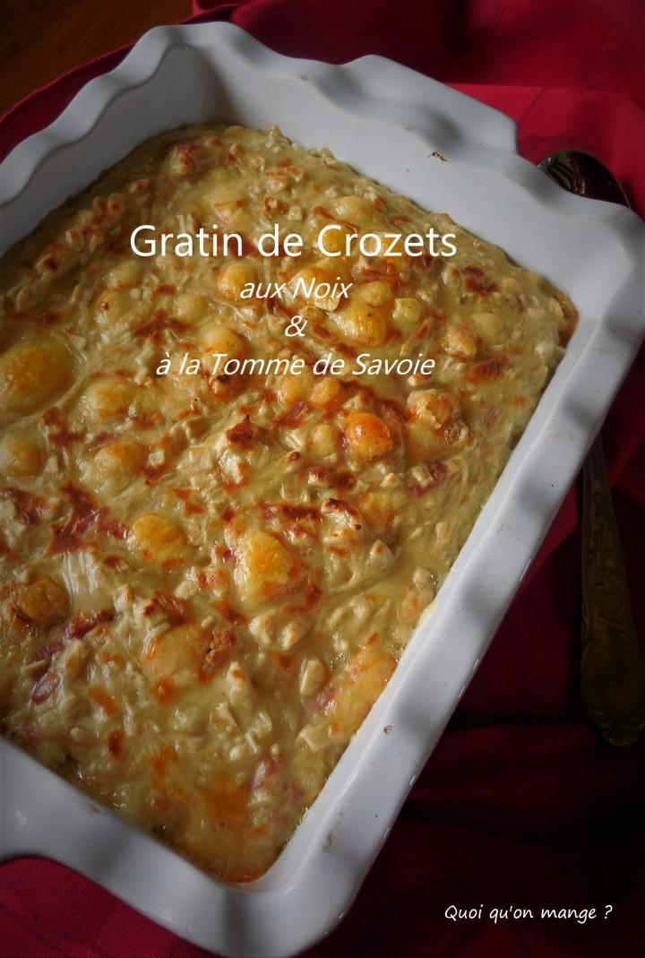 Gratin de Crozets aux noix et tomme deSavoie