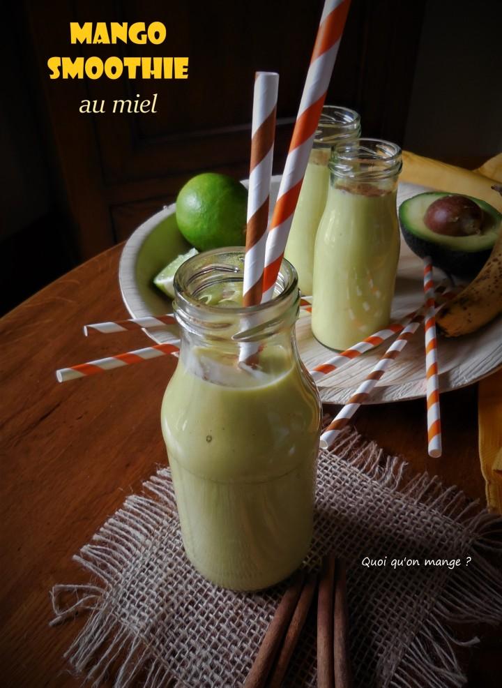 Mango smoothie parfumé au miel