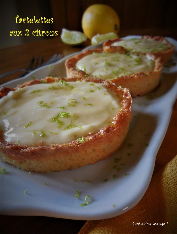 Tartelettes aux 2 citrons
