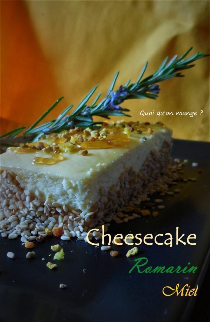 Cheesecake au romarin et miel