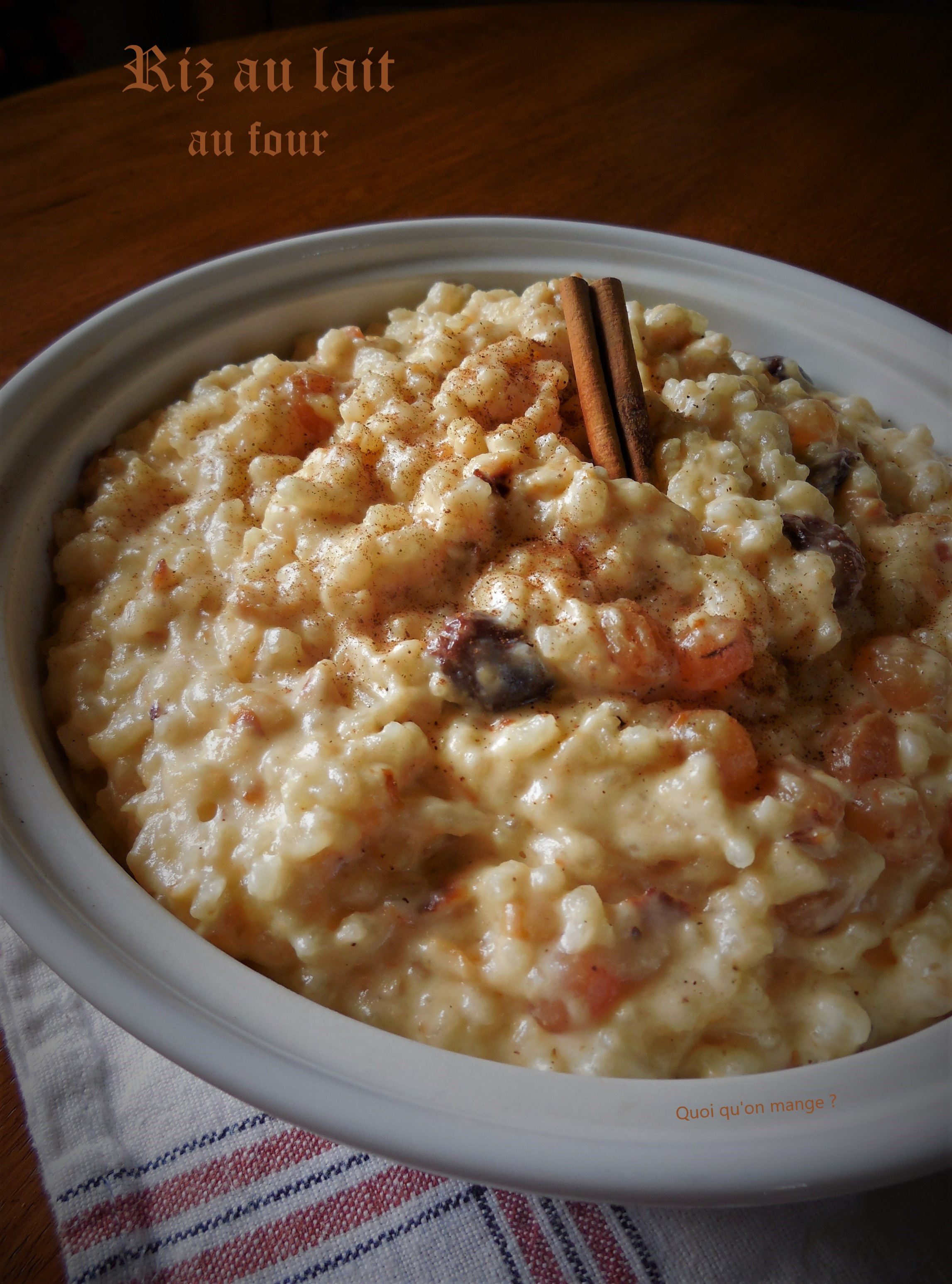 Riz au lait cuit au four