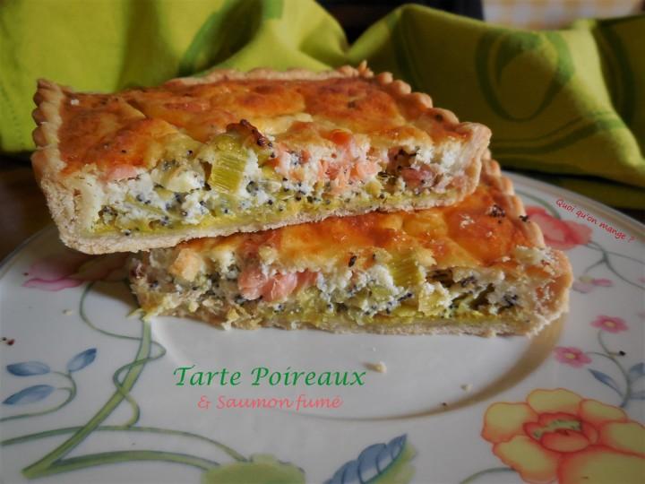 Tarte poireaux et saumonfumé