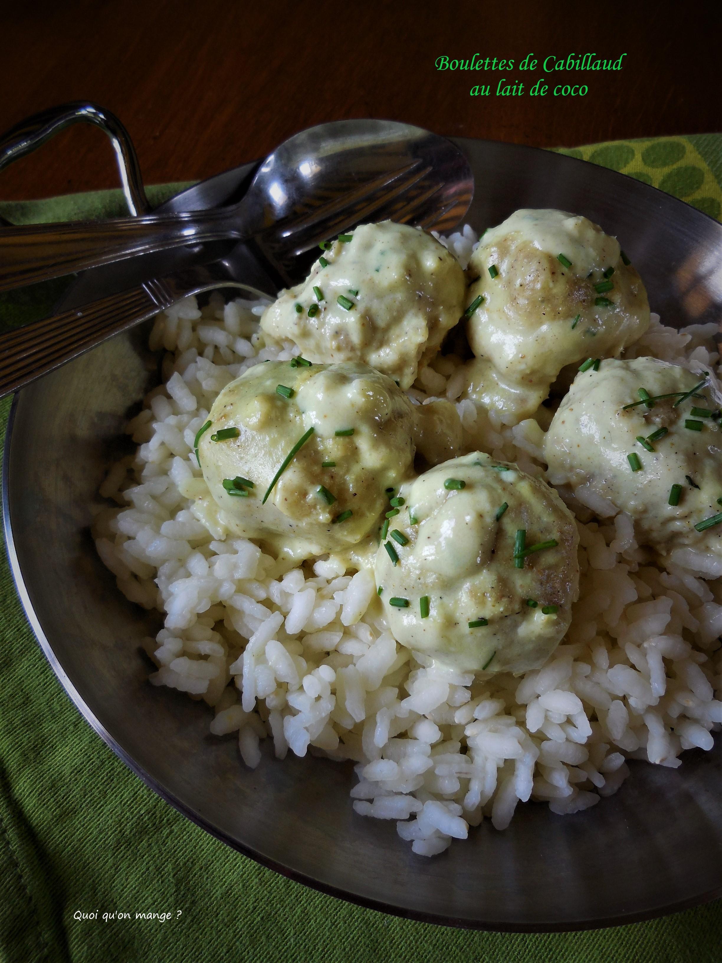 Boulettes de cabillaud au lait de coco