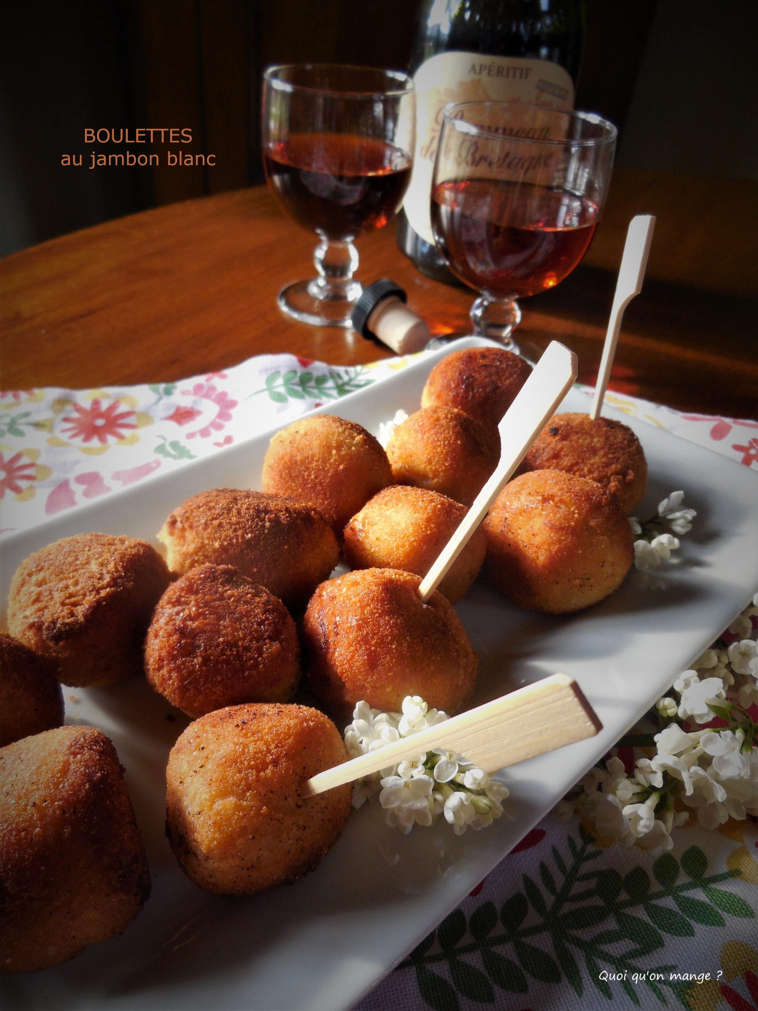 Boulettes au jambon blanc