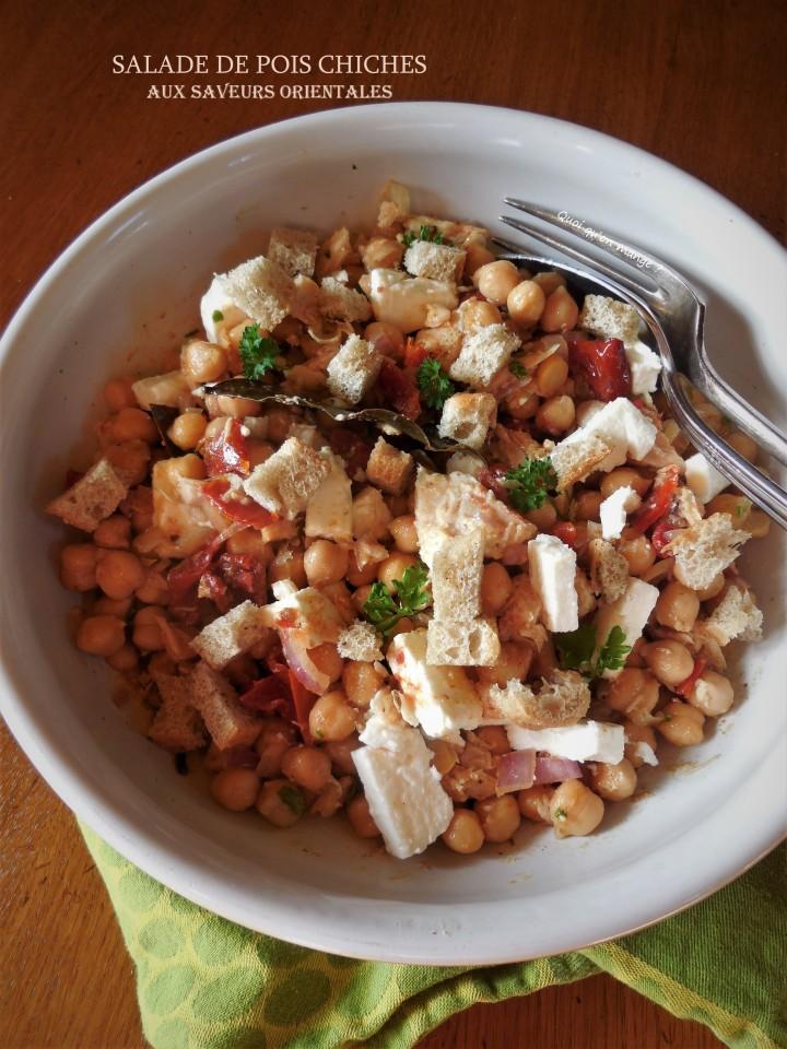 Salade de pois chiches aux saveursorientales
