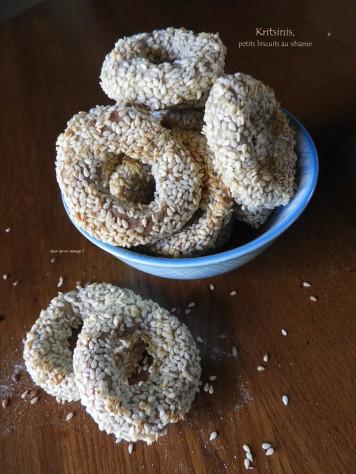 Kritsinis, petits biscuits au sésame
