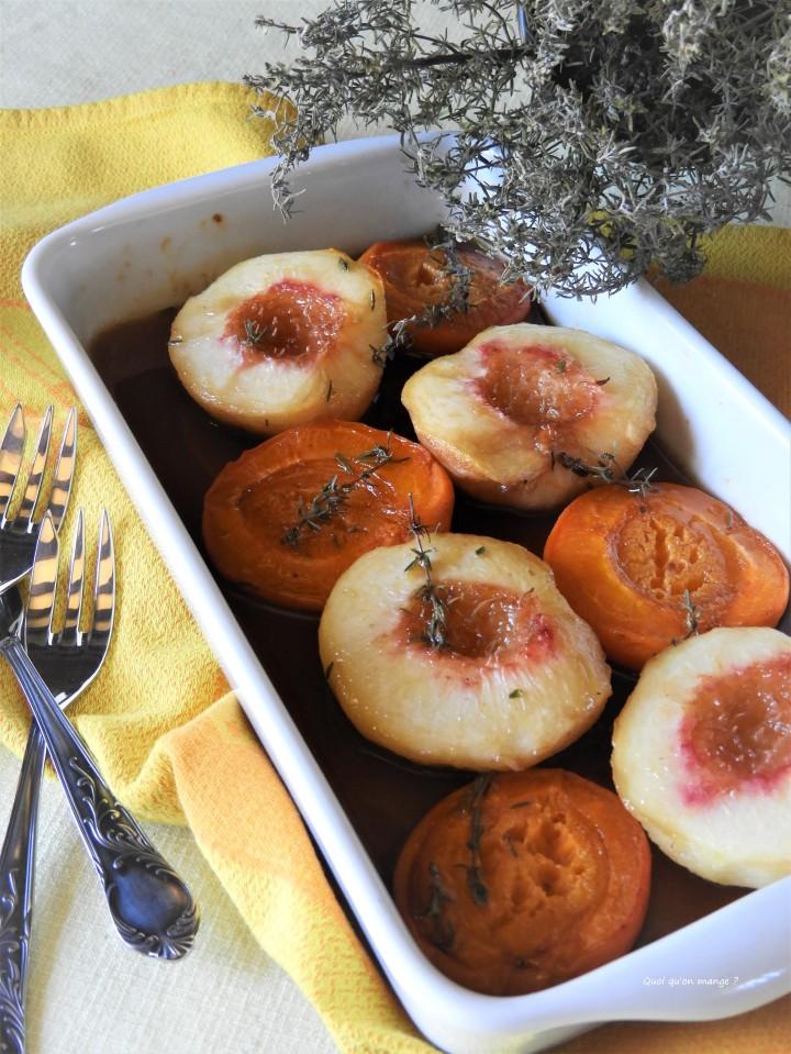 Fruits d'été rôtis authym