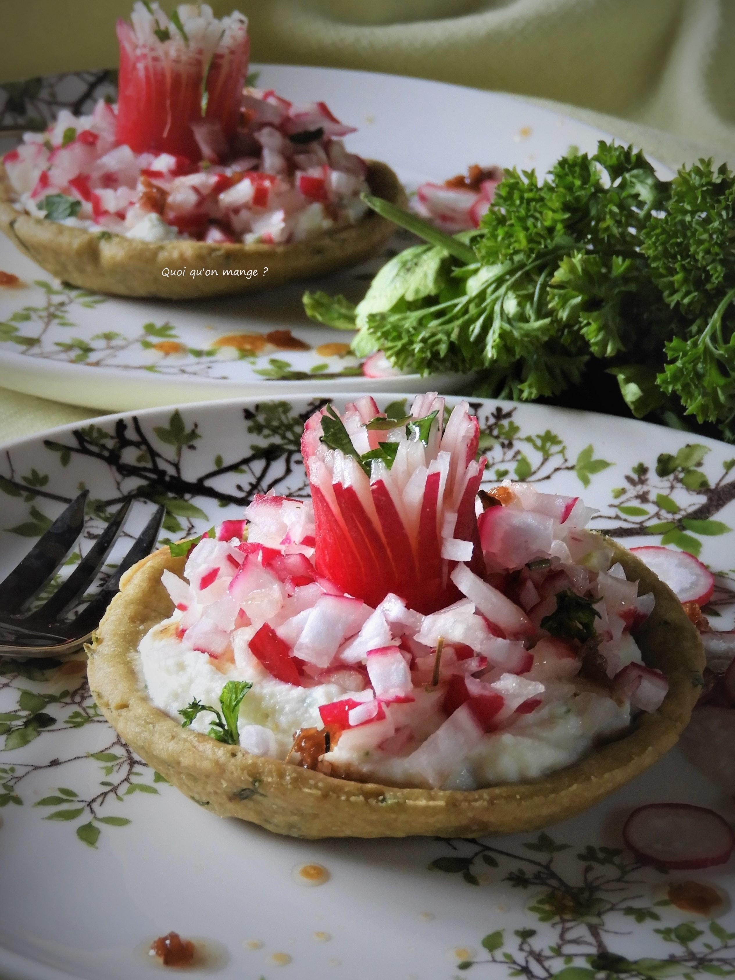 Tartelette aux radis roses