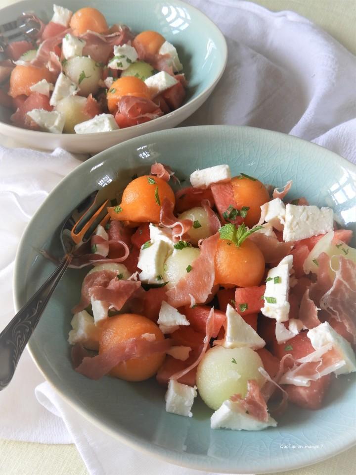 Meli mélo de melon Charentais, pastèque et melonGalia