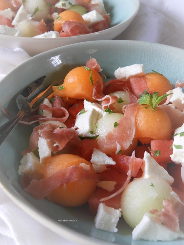 Meli melo de melon charentais, pastèque et melon Galia