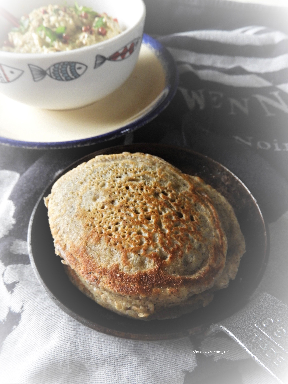 Rillettes de maquereau aux épices, blinis au sarrasin