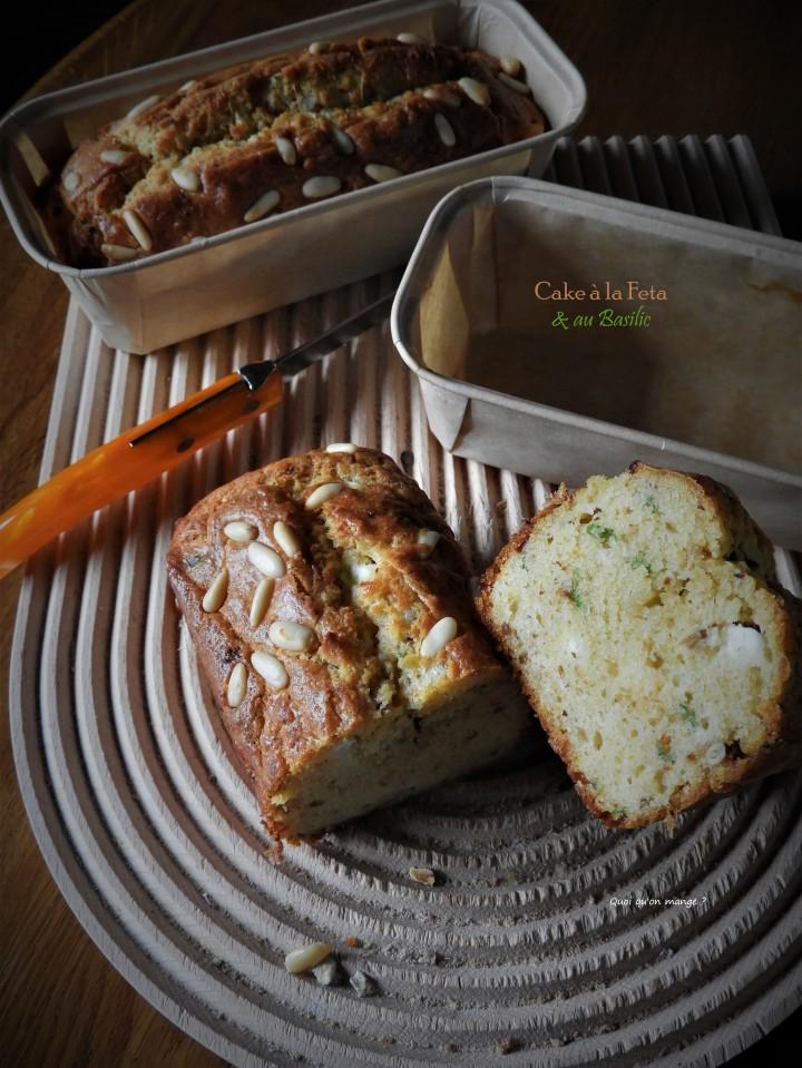 Cake à la feta et au basilic subtilement parfumé à la tomateséchée