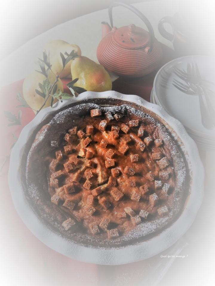 Clafoutis poires, saveurs paind'épices