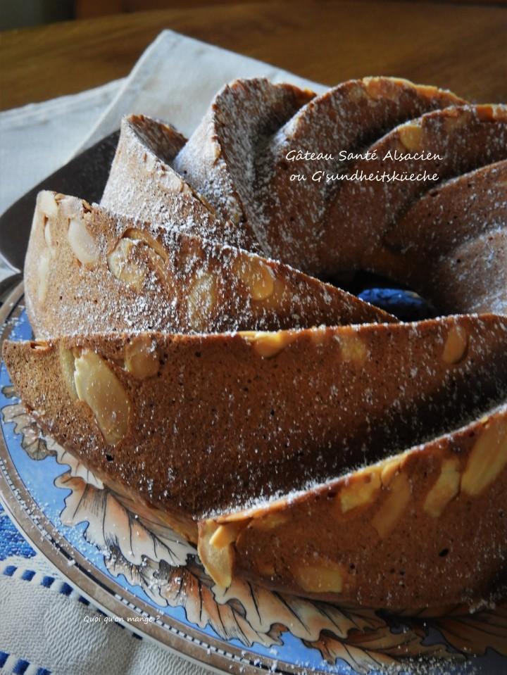 Gâteau santé ou G'sundheitsküeche