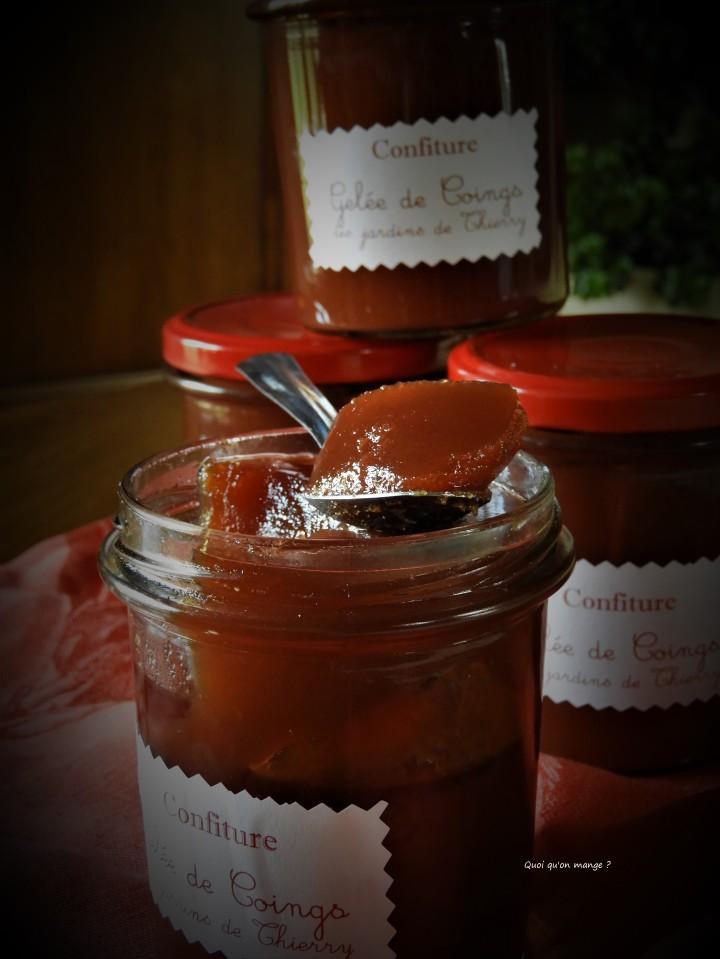 Gelée de coings aux épices et miel d'oranger