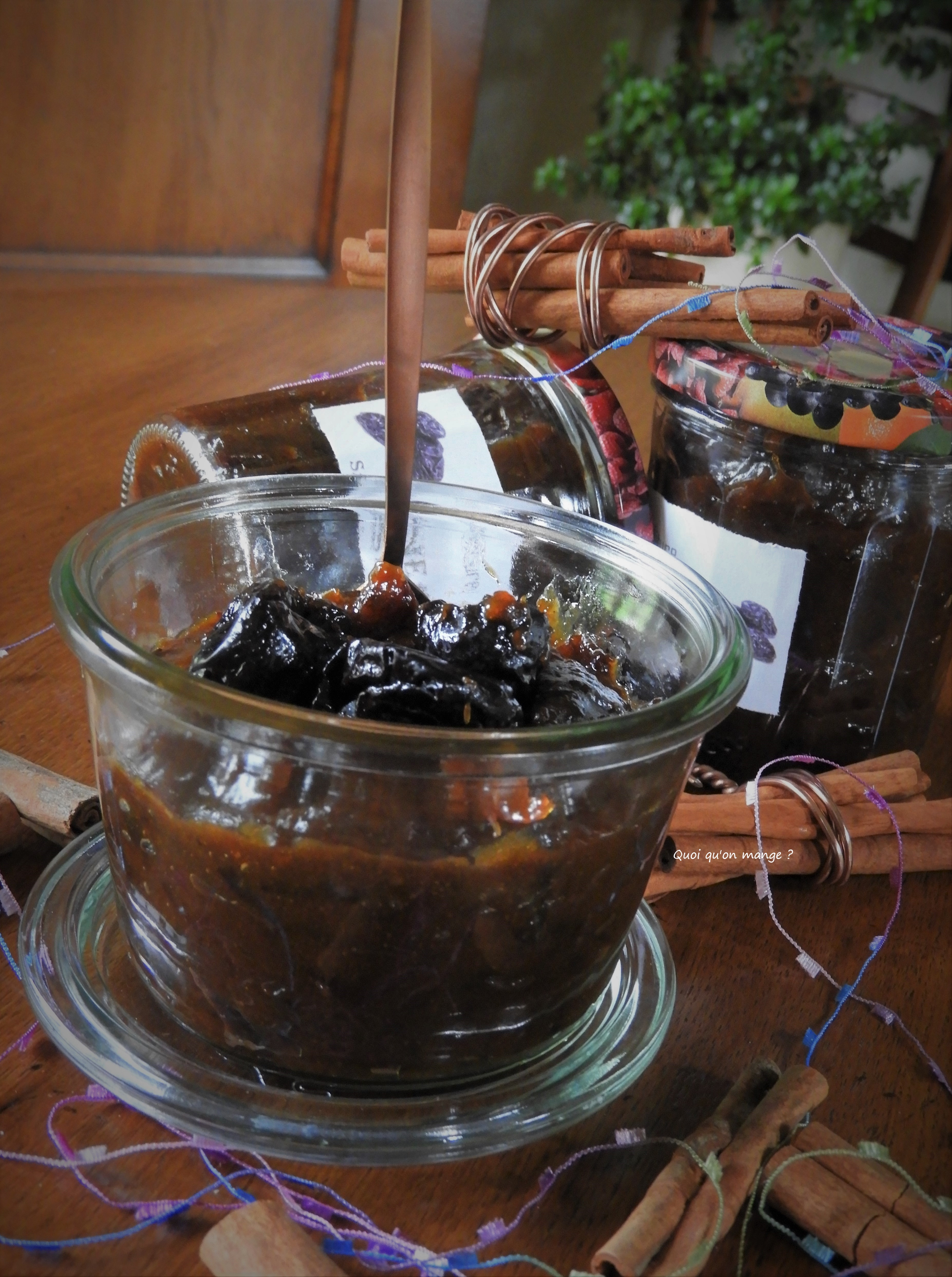 Marmelade de pruneaux saveurs d'Orient