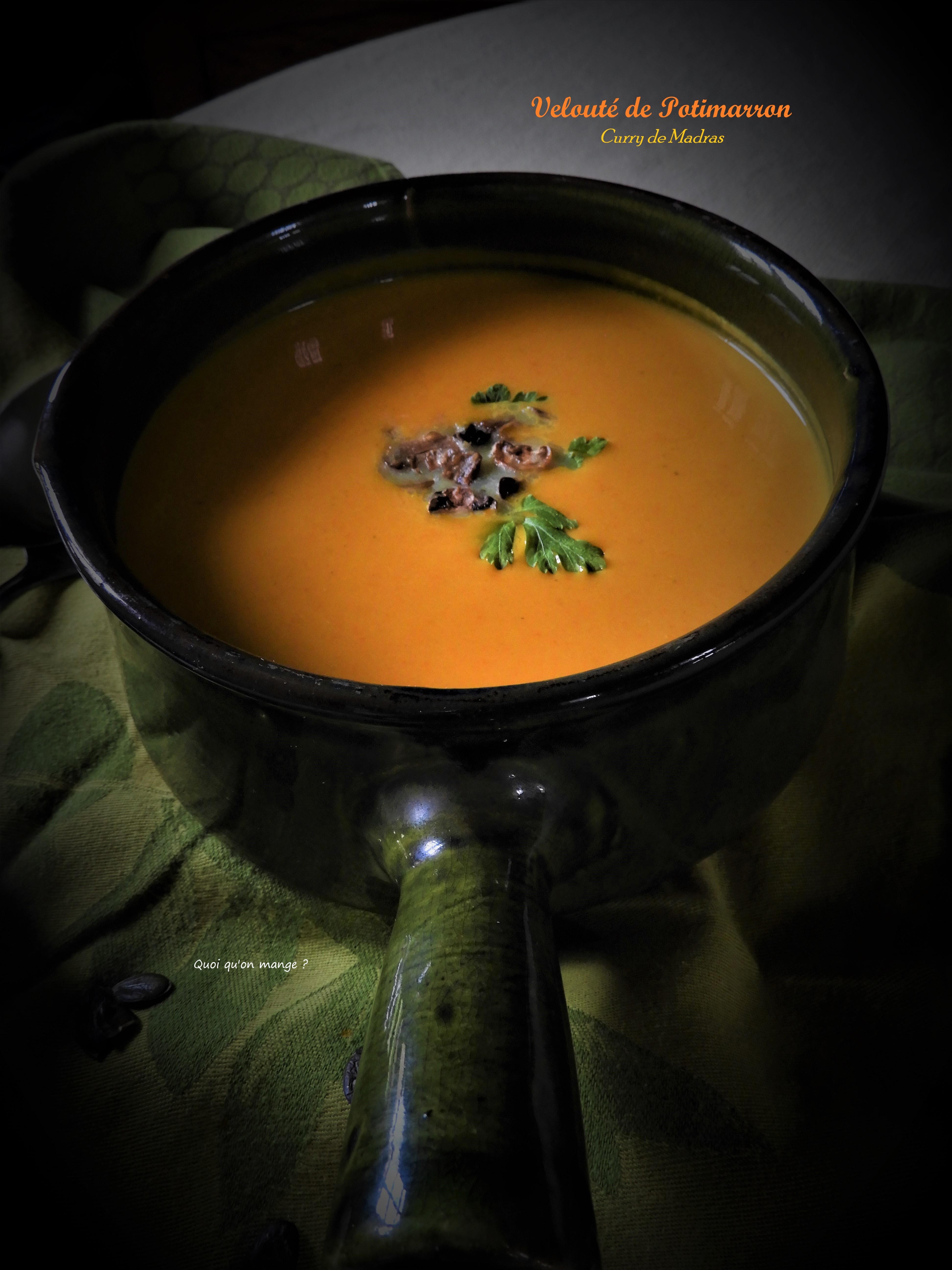 Velouté de potimarron saveurs curry