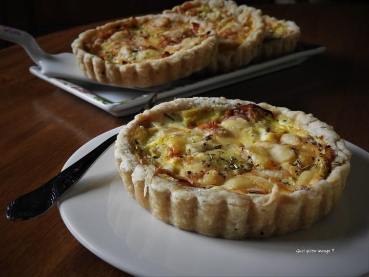 Tartelettes poireau et bacon au Beaufort