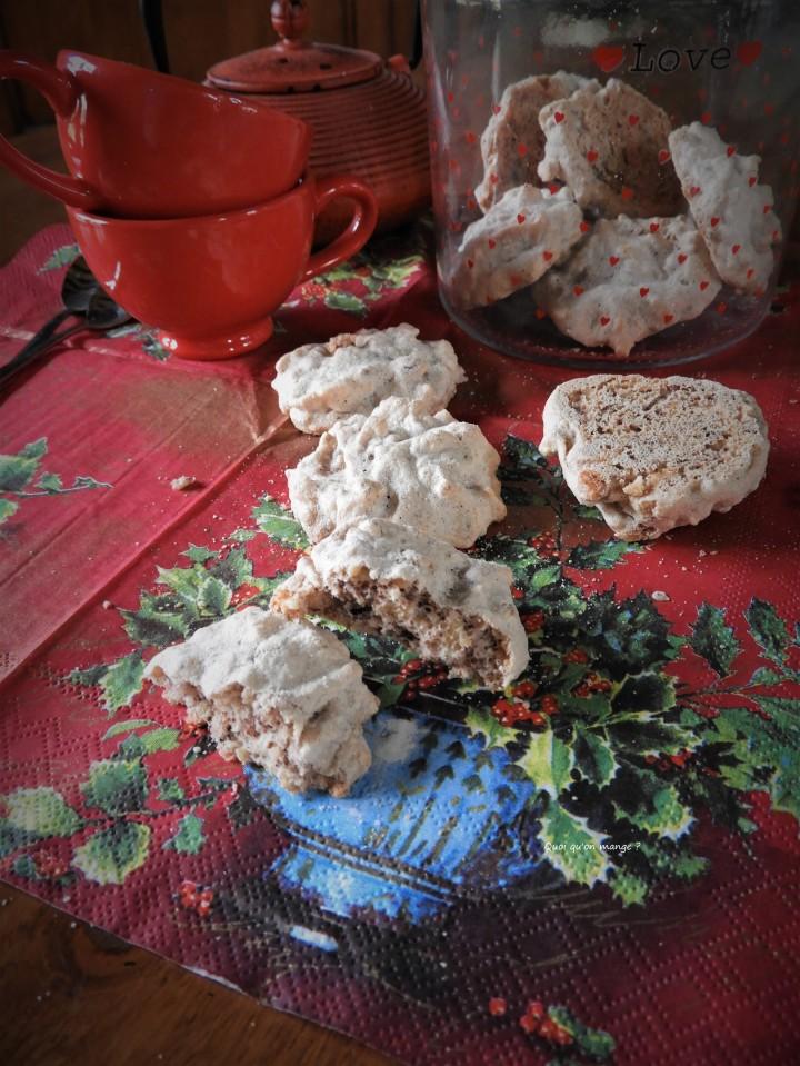 Biscuits meringués aux amandes et noisettes