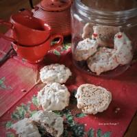 Biscuits meringués amande et noisette