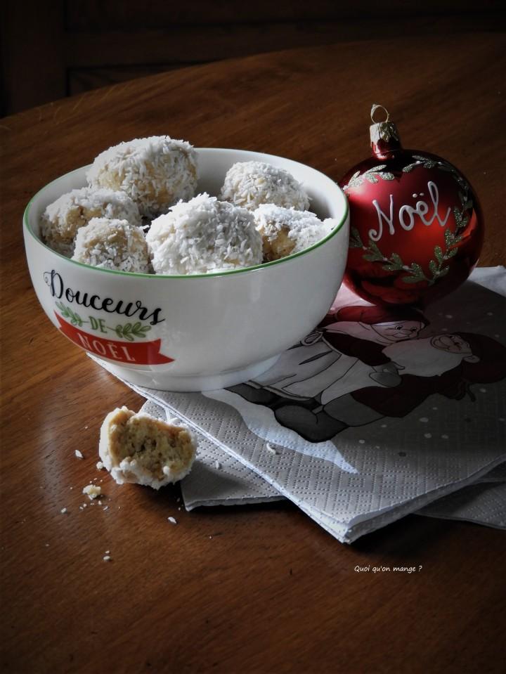 Boules de neige, petits biscuits deNoël